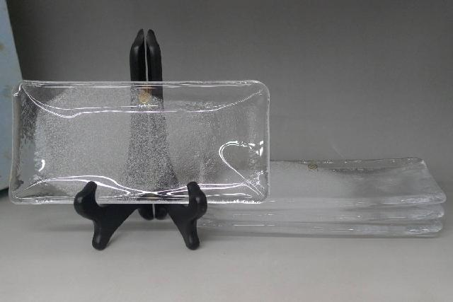 ガラス焼物皿4客の画像