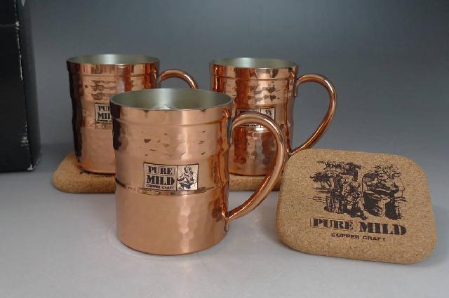 銅製ビールコップの画像