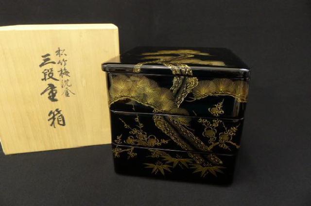 木製金蒔絵漆器の画像
