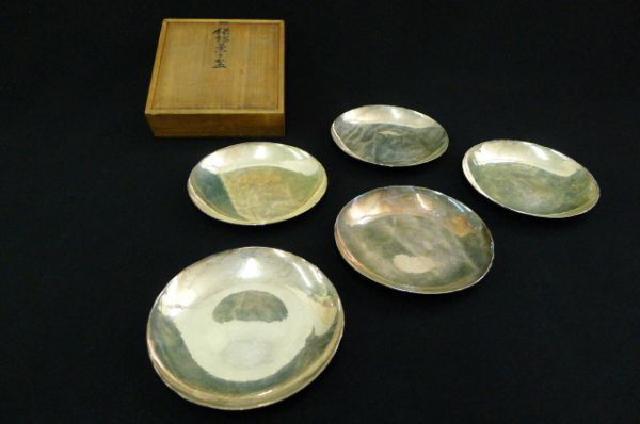 純銀菓子盆の画像
