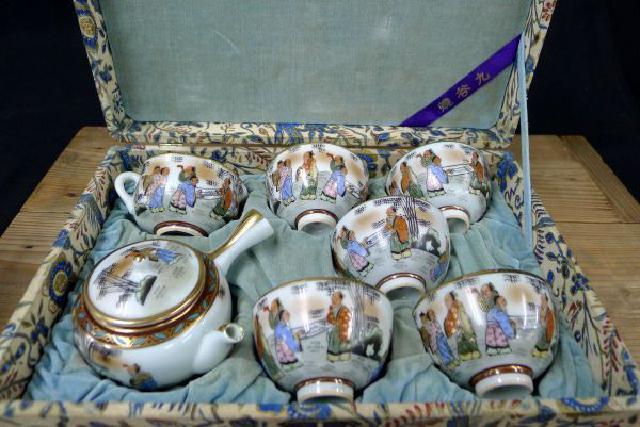 仙人図煎茶道具セットの画像